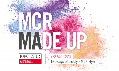 Campaign logo for beauty event at Manchester Arndale