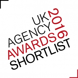 Logo for UK Agency Awards finalist 2016