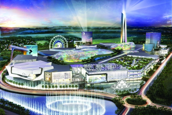 Retail-tainment - Artist's impression of the new American Dream development in Florida, USA.