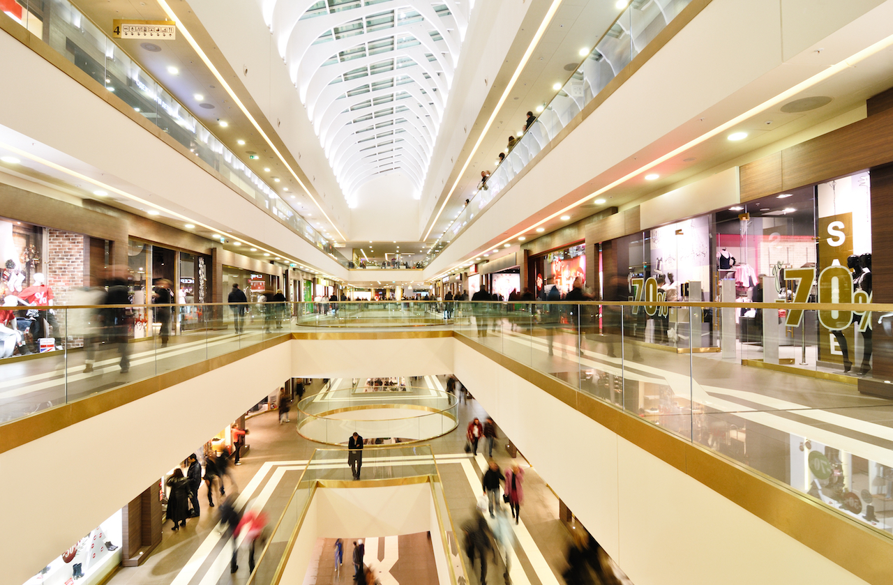 Retail-tainment - Interior shot of generic shopping mall