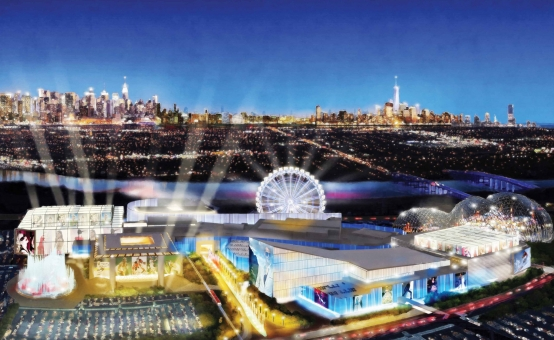 Retail-tainment - Artist's impression of the new American Dream development in New Jersey, USA.